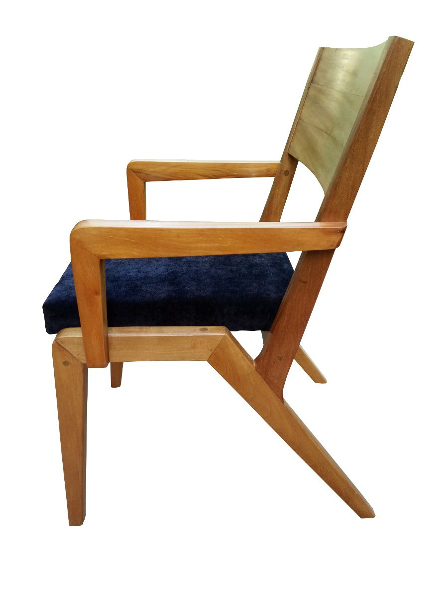 Cadeira de Demolição Modelo Colibri Com Braço - Assento Estofado - Em Madeira Selecionada