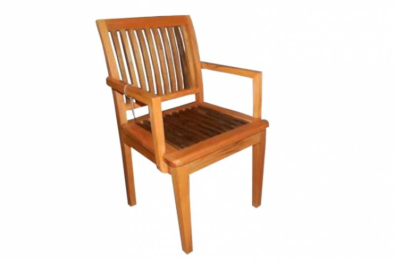 Cadeira De Demolição Modelo Ripa Com Braço - Em Madeira Selecionada