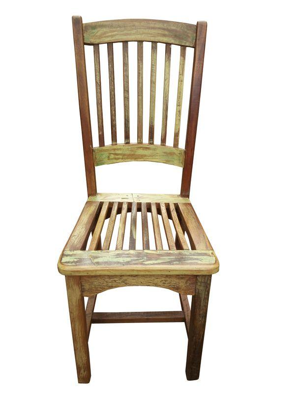 Cadeira De Demolição Rústica Modelo Confidência - Em Madeira Selecionada