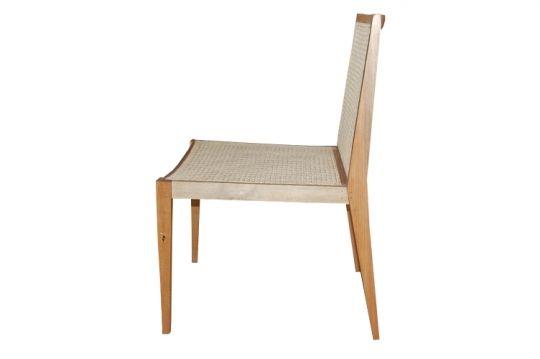 Cadeira De Demolição Modelo Angra - Em Palhinha Natural Indiana - Em Madeira Selecionada