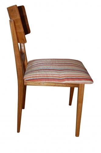 Cadeira De Demolição Modelo Copacabana - Com Assento Em Madeira - Em Madeira Selecionada