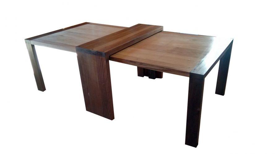Conjunto De 02 Mesas De Jantar Modelo Parati E Aparador De Demolição Modelo Curitiba - 1,20 X 1,20 X 76 -  Em Madeira Selecionado