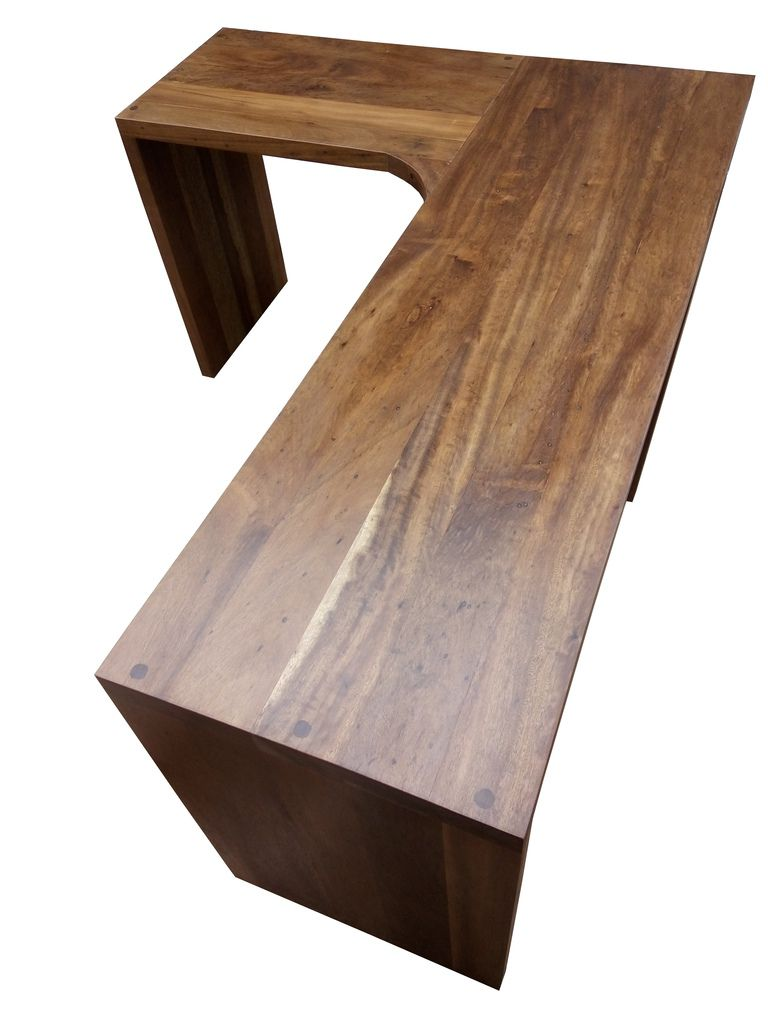 Escrivaninha / Bancada De Demolição Modelo Bancada Em L - 1,70 X 50 X 75 - Em Madeira Selecionada