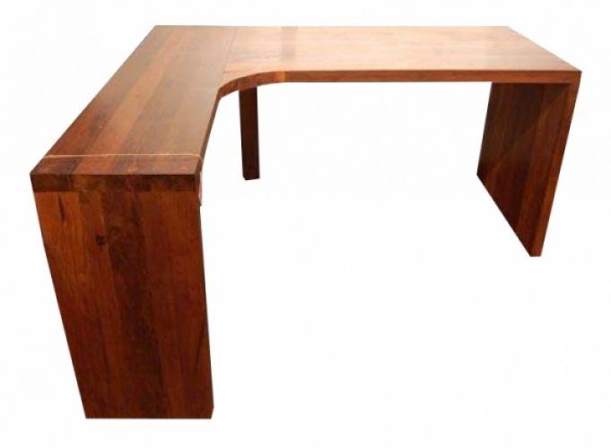 Escrivaninha / Bancada De Demolição Modelo Bancada Em L - 1,40 X 60 X 76 - Em Madeira Selecionada