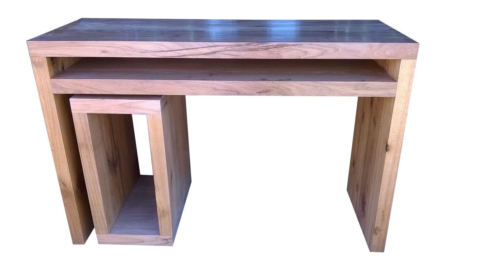 Escrivaninha / Bancada De Demolição Modelo Estação - 1,30 X 60 X 75 - Em Madeira Selecionada