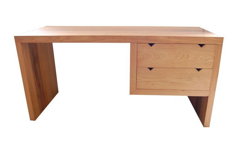 Escrivaninha De Demolição Modelo Maresias - 1,30 X 60 X 76 - Com 02 Gavetas - Em Madeira Selecionada
