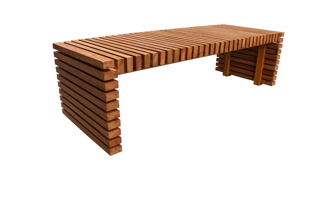 Mesa de Centro de Demolição Modelo Maragogi - 1,40 x 0,50 x 0,45 alt. - Em Madeira Selecionada
