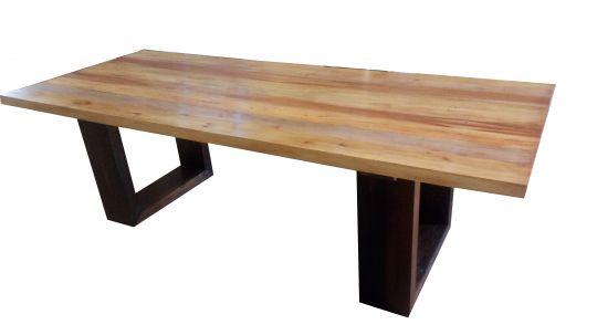 Mesa de Jantar De Demolição Modelo Barra - 2,20 X 1,00 X 0,76 - Em Madeira Selecionada