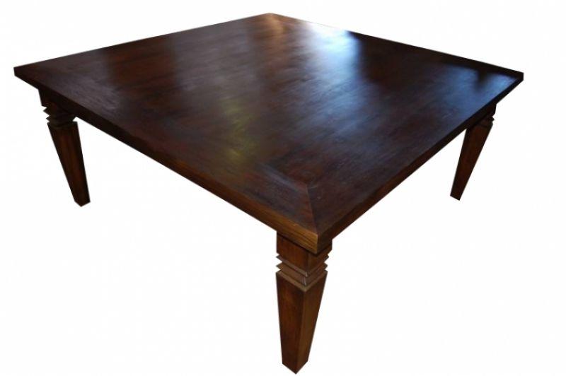 Mesa De Jantar Quadrada De Demolição Modelo Diamantina - 1,40 x 1,40 - Em madeira Selecionada