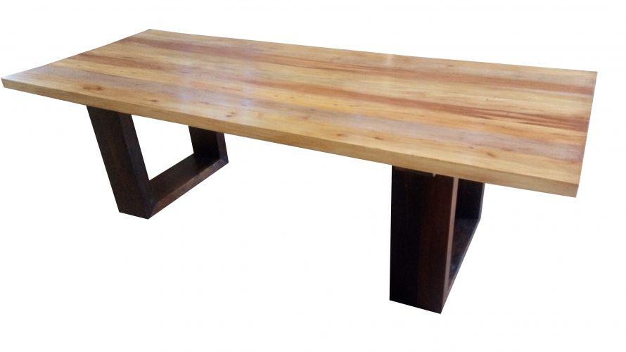 Mesa de Jantar Retangular de Demolição Modelo Barra - 2,40 X 1,00 - 0,76 - Em Madeira Selecionada