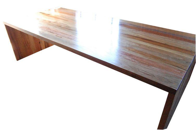 Mesa De Jantar Retangular De Demolição Modelo Blumenau - 2,20 X 1,00 X 76 - Em Madeira Selecionada