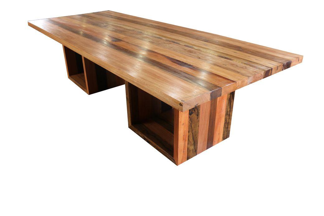 Mesa De Jantar Retangular De Demolição Modelo Fortaleza - 2,20 X 1,00 - Em Madeira Selecionada