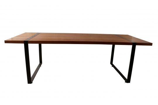 Mesa de Jantar Retangular De Demolição Modelo Leblon - 2,40 X 1,00 - Em Madeira Selecionada