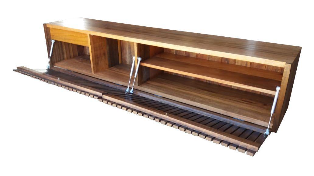 Rack de Demolição Modelo Belvedere - Frente com Portas Ripadas - Em Madeira Selecionada