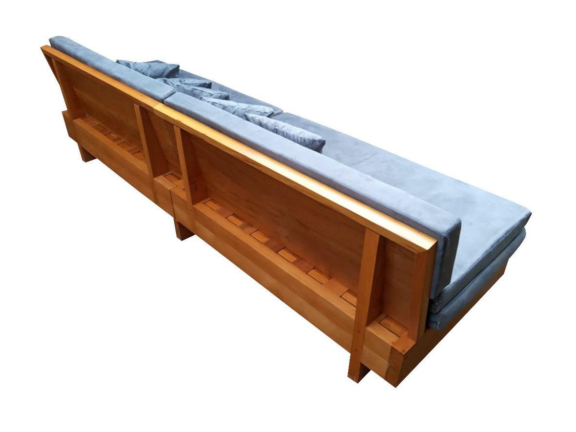 Sofá de Demolição Modelo de Abrir Modelo Praia - 2,00 comp. X 0,35 X 0,90 - Em Madeira Selecionada