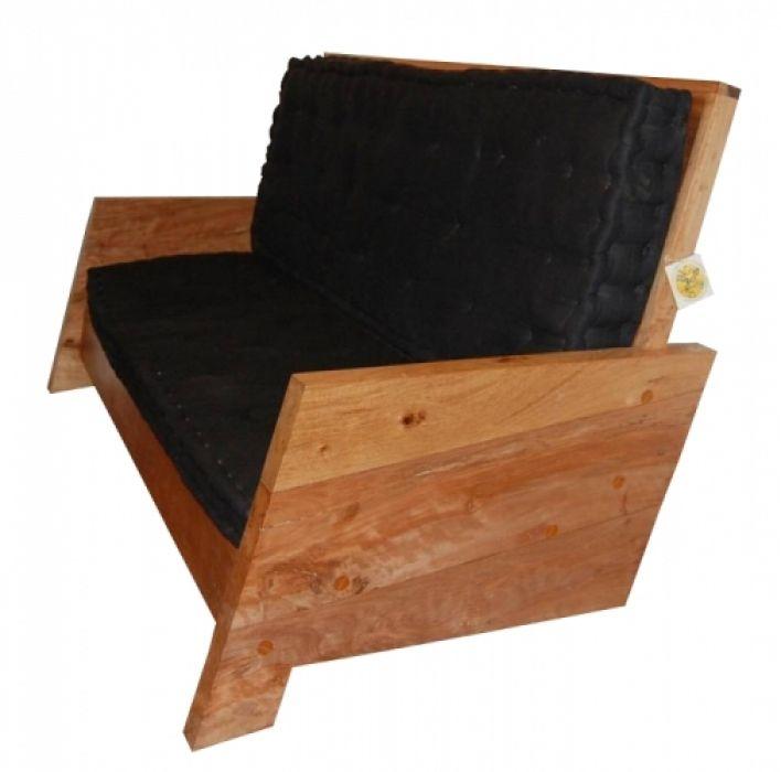 Sofá De Demolição Modelo Penha - 1,80 X 80 X 35 - Incluso Futons - Em Madeira Selecionada