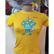 Babylook Infantil Tom Samba Rio 2016 algodão amarelo