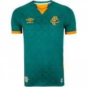 Camisa Fluminense Umbro III 2020 jogador Verde Laranja gola V masculina
