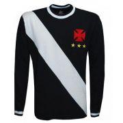 Camisa Vasco Liga Retrô 1972 Manga Longa