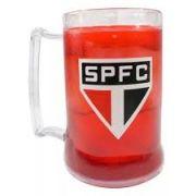 Caneca São Paulo Futebol Club Gel Vermelha Escudo