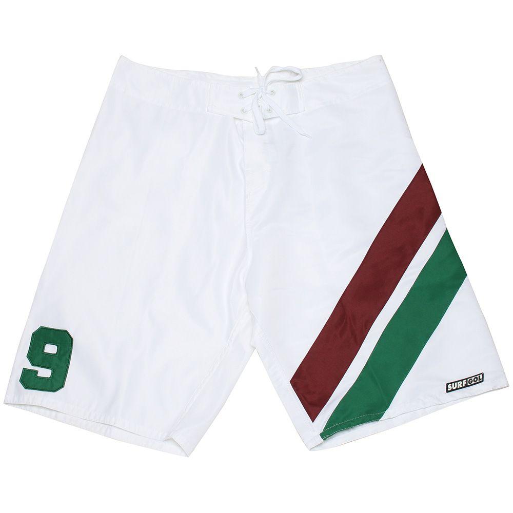 Bermuda Surf Branca Tricolor