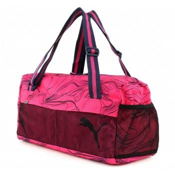 Bolsa Mala Media Puma Fundamentals Sports Bag II Fuchsia PurpleAllOver Lines