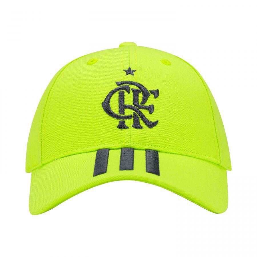 Bone Flamengo Adidas CR amarelo adulto