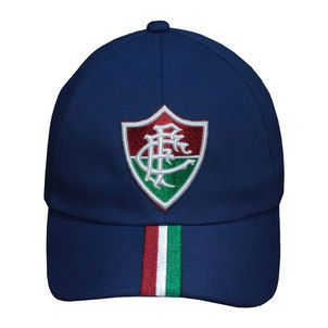 Boné  Fluminense Aba Curva Azul Marinho faixa tricolor