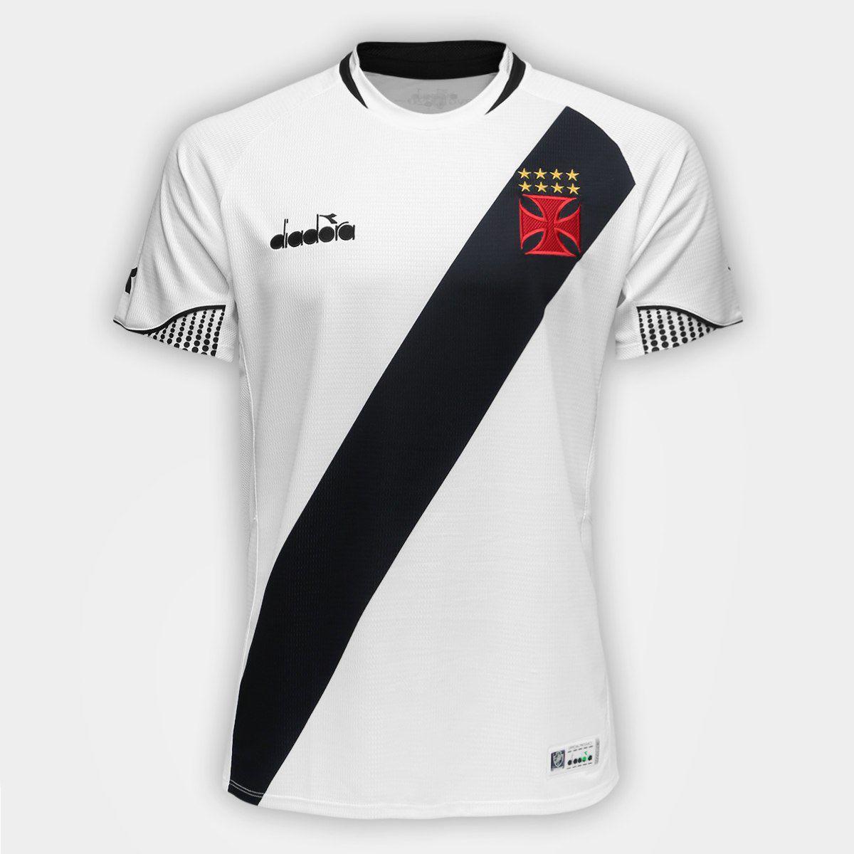 Camisa Branca Torcedor Vasco Diadora 2018