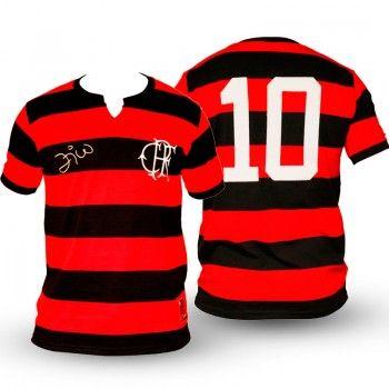 Camisa Flamengo retrõ Zico Fla Tri Infantil