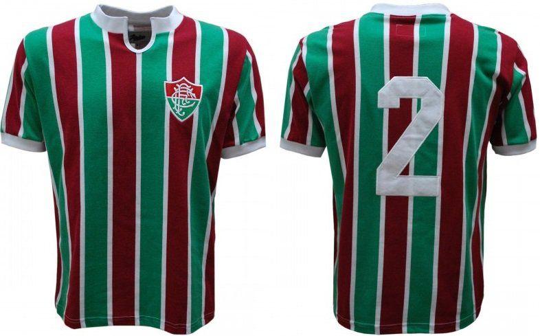 Camisa Fluminense 1976 Máquina Tricolor Número 2