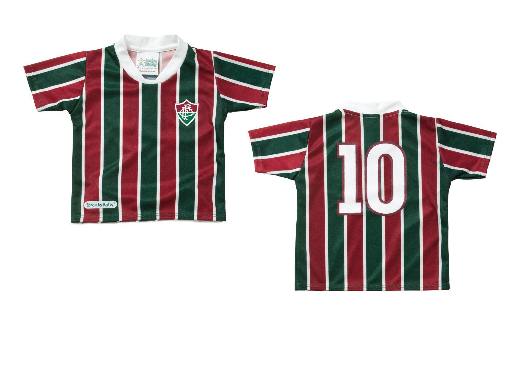 Camisa Fluminense Torcida Baby Tricolor