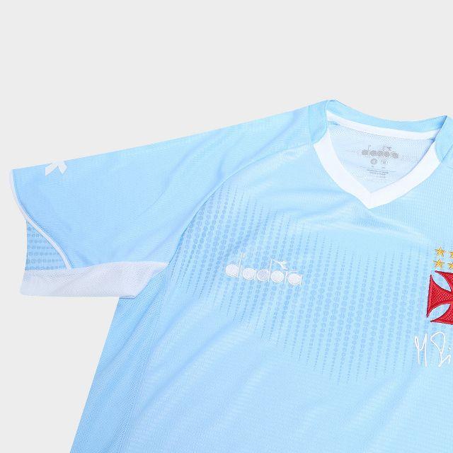 Camisa Goleiro Azul Celeste Torcedor Vasco Diadora 2018