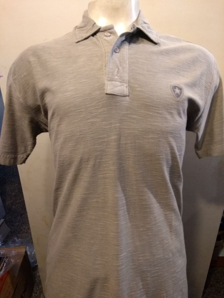 Camisa Pólo Botafogo Flamê Cinza Botões Cód. 98118