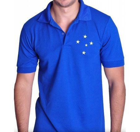 Camisa Pólo Cruzeiro com Estrelas