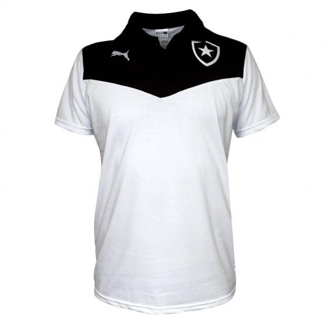 Camisa Polo Puma Botafogo Travel 2015 Branca / Preta