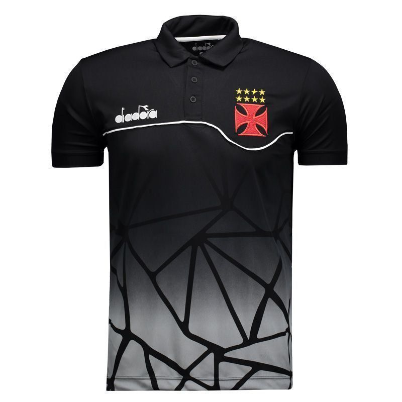Camisa Polo Vasco Viagem Preta 2018