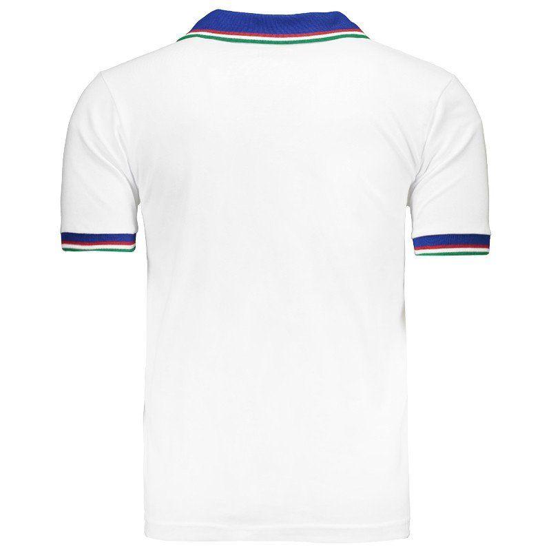Camisa Retrô Itália 1982 Branca (Away)