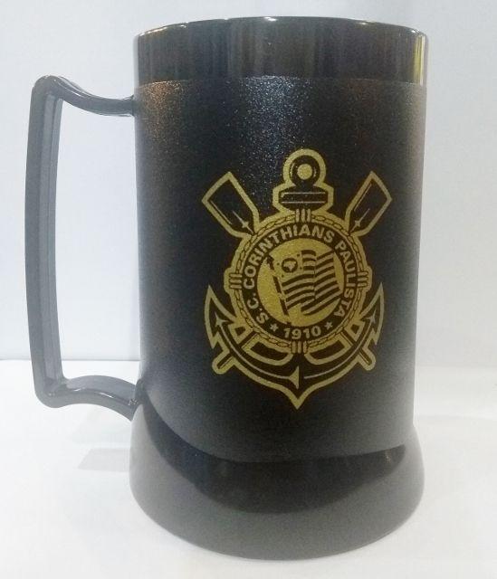 Caneca Corinthians Eterno Gel Incolor 400ml Escudo Dourado ayrton