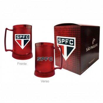 Caneca Gel Vermelha Escudo São Paulo Futebol Club