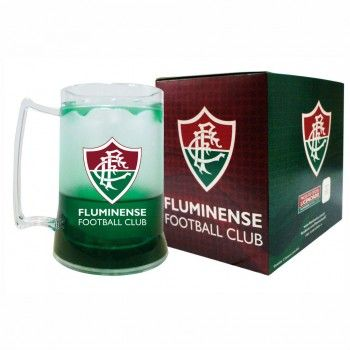 Caneca Incolor Gel Verde Escudo Fluminense