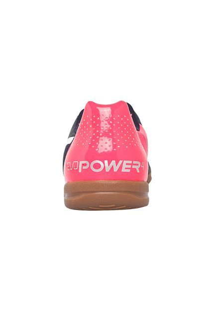 Chuteira Puma EvoPower 4.2 IT Jr Marinho e Rosa