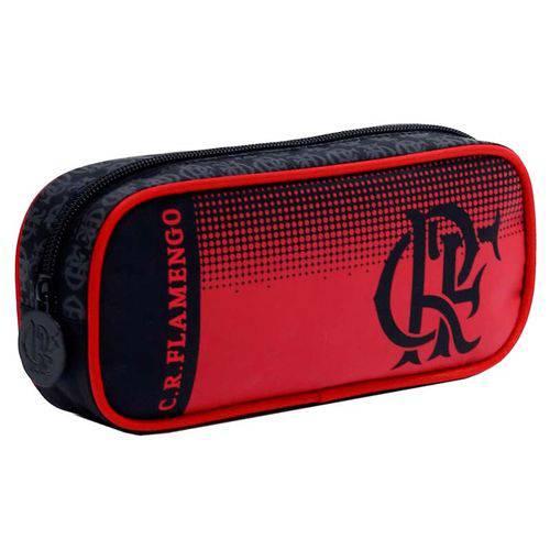 Estojo Escolar Mengão Flamengo  Simples  Xeryus - Preto e Vermelho ref 8055