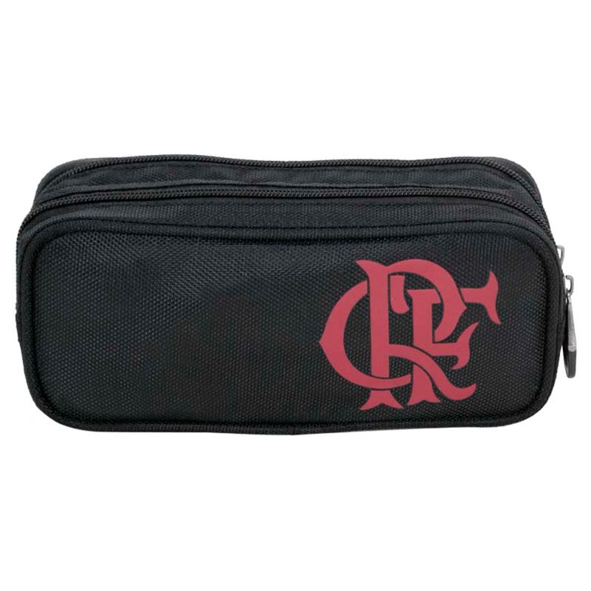 Estojo Flamengo Duplo Xeryus - Preto e Vermelho ref 8291