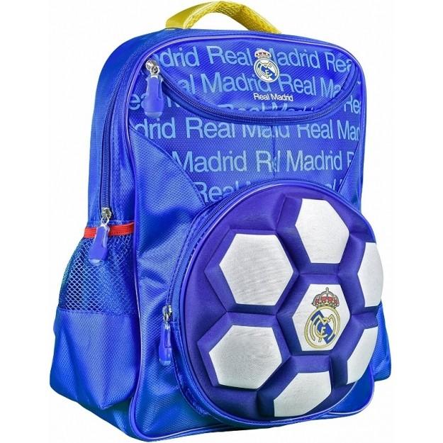 Mochila Real Madrid Bola 3D Infantil ref 5542