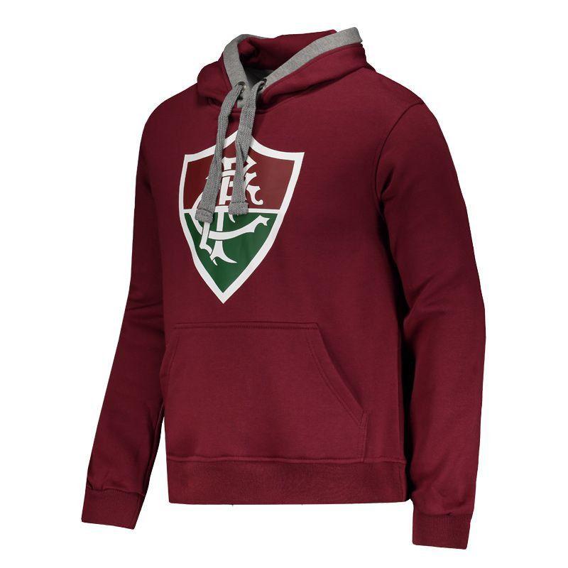 Casaco Fluminense Grená com capus e bolso canguru