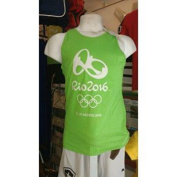 Regata Braziline Mono Olimpíada Adulto Verde Algodão