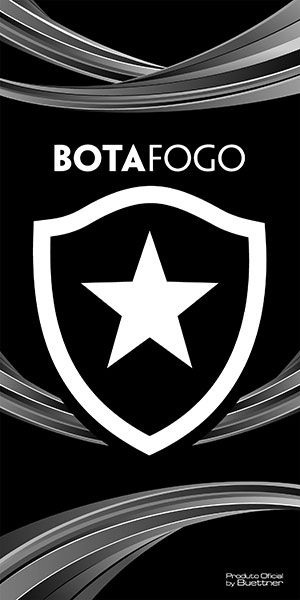 Toalha Botafogo Banho Veludo Estampada 207319