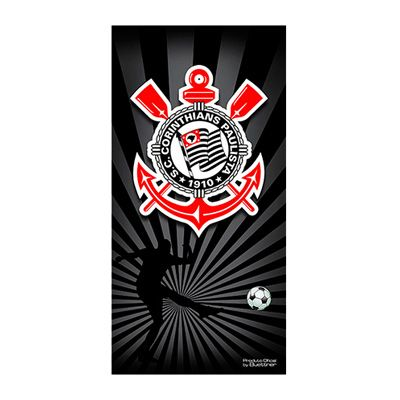 Toalha Corinthians Banho Veludo Estampada 56329