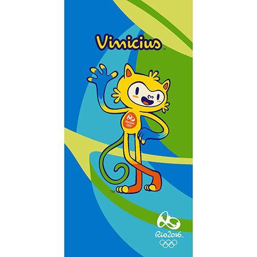 Toalha de Banho Mascote Vinícius Olimpíadas Rio 2016